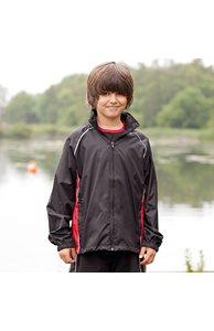 Kids Piped Showerproof Training Jacket