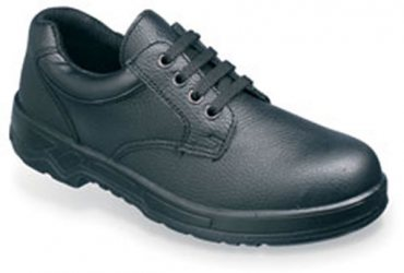 Black safety shoe with mid-sole