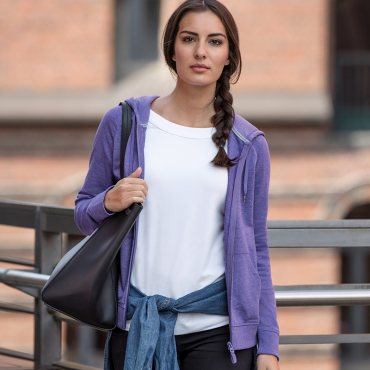 Women's HD zipped hood sweatshirt