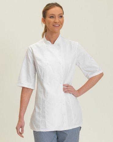 DD33S Dennys Ladies' Short Sleeve Chef's Jacket