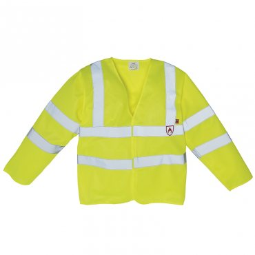 Flame-Retardant Hi-Vis Long Sleeve Waistcoat (HVJ200FR)